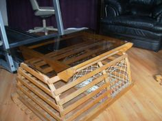 Lobster trap coffee table Rustic decor Pinterest Lobster