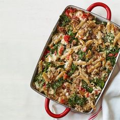 Baked Pasta with Kale Recipe - Woman's Day. Making this tonight.