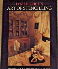"""Art of Stencilling"" Lyn Le Grice 1986 arts and crafts book design"