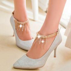 ENMAYE BlackWhite 2014 new woman sexy thin heels platform Pumps fashion pure ankle-buckle princess wedding party high-heel shoes $60.66 - 66.66