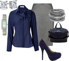 """""""Navy & Grey"""" by lisa-eurica ❤ liked on Polyvore"""