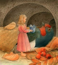 Giclee Print: Thumbelina 11 Art Print by Kestutis Kasparavicius : William Turner, Hans Christian, Art And Illustration, Book Illustrations, Flying Flowers, Beautiful Fairies, Beautiful Places, Fairytale Art, Naive Art