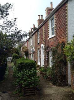 Cottages in Yarmouth Isle of Wight situated down a quiet path with no road access.