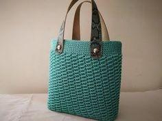 Crochet Bag Tutorials, Crochet Videos, Diy Crochet, Tutorial Crochet, Crochet Handbags, Crochet Purses, Crochet Bags, Macrame Bag, Tapestry Crochet