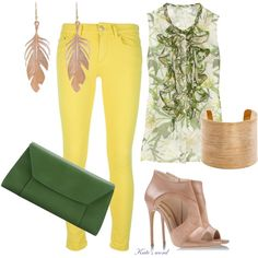 A fashion look from June 2014 featuring green top, skinny jeans and heeled ankle booties. Browse and shop related looks. Green Tops, Ankle Booties, Fashion Looks, Skinny Jeans, Booty, Clothes For Women, Polyvore, Outfits, Shopping