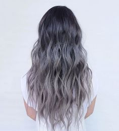 black to gray ombre  by @evalam_