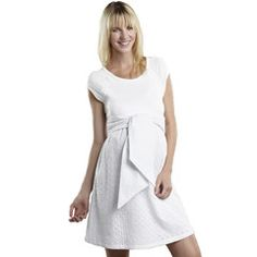 Maternal America Scoop Neck Front Tie Dress