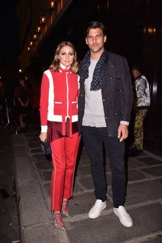Olivia Palermo and Johannes Huebl attend the Valentino #ILoveSpike Cocktail as part of the Paris Fashion Week Womenswear Spring/Summer 2018 on...