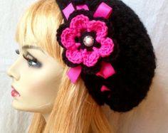 Splendido cappello Beanie, ragazze, adolescenti o donne. Farina davena in misto lana (mostrato). O scegliere il vostro colore. Altri colori sono