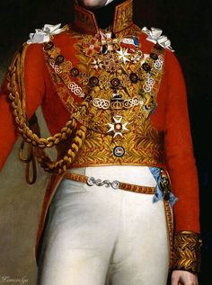 Leopold I, King of the Belgians (detail), after George Dawe, 1844-50. Oil on canvas.