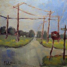 """On the Grid"" - Original Fine Art for Sale - © Heidi Malott"
