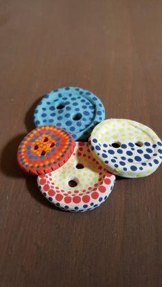 Ceramic buttons