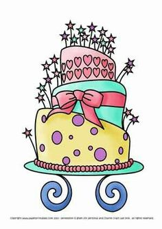 Pretty Birthday Cake Clip Art Clips Memes Greetings Happy