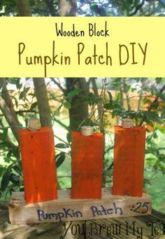 Wooden Block Pumpkin Patch DIY
