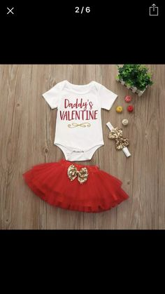 65ae52ea98a Baby Girl - Daddy s Valentine Outfit. Daddy ValentineValentines OutfitsBoutique  ClothingOutfit ...