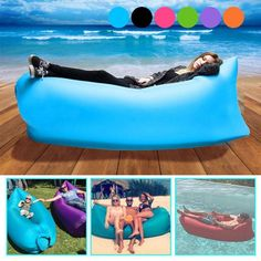 NEW! Inflatable Air-Chair Sofa Lounger: Ideal to relax anywhere, such as at the beach, in the garden of home, when camping... Very practical to fill with air and simple to pack. New in Sporting Goods, Outdoor Sports, Camping & Hiking