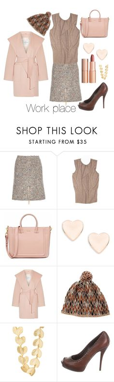 """""""Working mom"""" by blumbeeno ❤ liked on Polyvore featuring Acne Studios, Hermès, Ted Baker, Charlotte Tilbury, MaxMara, Missoni, Kenneth Jay Lane and Gucci"""