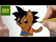 COMO DIBUJAR GOKU PERRO KAWAII PASO A PASO - Dibujos kawaii faciles - How to draw a GOKU DOG - YouTube