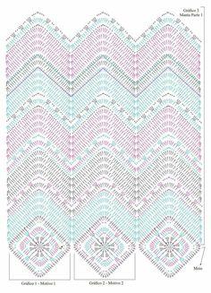 Soft Rope Tote Bag pattern by Andrea Marton Zig Zag Crochet, Plaid Au Crochet, Crochet Pillow Pattern, Crochet Mandala Pattern, Crochet Ripple, Crochet Motifs, Crochet Square Patterns, Crochet Stitches Patterns, Crochet Diagram