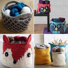 Crochet Storage Basket FREE Patterns