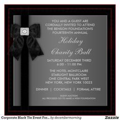 Sophisticated scrolls corporate event invitations grad invites shop corporate black tie event formal template created by decembermorning wajeb Images