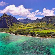 Ka'a'awa Valley aka Jurassic Park. Oahu, Hawaii. Photo by OpticalHI