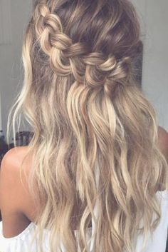 luxy-hair-frisur-abiball-frisur-hochzeit-frisur-party-frisur Frisur ideen - Eventplanung - My list of the most creative hairstyles Wavy Wedding Hair, Elegant Wedding Hair, Braided Hairstyles For Wedding, Party Hairstyles, Wedding Hair And Makeup, Down Hairstyles, Straight Hairstyles, Wavy Hair, Hair Updo