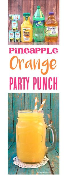 This EASY Party Punch is perfect for your showers… Pineapple Orange Punch Recipe! This EASY Party Punch is perfect for your showers, parties, and holiday brunch! Just 4 ingredients and such a crowd-pleaser! Alcoholic Punch Recipes, Party Punch Recipes, Non Alcoholic Drinks, Drinks Alcohol, Brunch Punch Non Alcoholic, Summer Punch Recipes, Margarita Recipes, Alcohol Recipes, Fruit Recipes