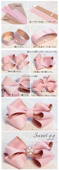 Wonderful Ribbon Embroidery Flowers by Hand Ideas. Enchanting Ribbon Embroidery Flowers by Hand Ideas. Ribbon Art, Diy Ribbon, Ribbon Crafts, Ribbon Bows, Diy Crafts, Ribbons, Ribbon Flower, Baby Bows, Baby Headbands