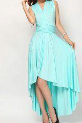 Mint Green High Low Infinity Dress Convertible Dress Bridesmaids