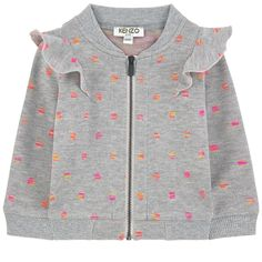 Cotton and polyester jersey Comfortable item Crew neck Long sleeves Tightened cu… - Babykleidung Dresses Kids Girl, Kids Outfits, Baby Outfits, Sweat Kenzo, Kenzo Kids, Kids Wear, Baby Dress, Kids Fashion, Trends