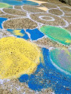 Rangoli Sidewalk Art DIY on the The Brashear Kids Blog culture lessons in alternative afterschool programming and summer camp - india
