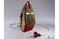 """マーベル・コミックやアメリカ映画で有名な「アイアンマン(Iron Man)」…のアイロン(Iron)。英語だとナイスなダジャレ。 残念ながら商品ではない、「Iron Man Iron」コンセプト。キャラクター商品として、結構イケてるんじゃないかと思うほど、秀逸のデザインではないでしょうか。 """"I..."""
