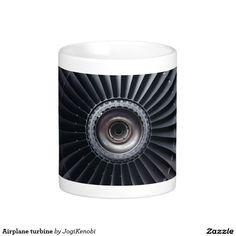 Airplane turbine  #jet #engine #turbine #airplane #technology #rotation #machine #aviation #flight #science #engineering #pilot #mug