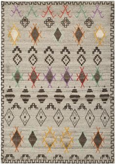 Transitional hand-knotted Kenyan rug,  made from pure wool in un-dyed natural shades or vibrant colors.