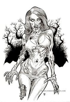 zombie pin up zombie girls 3