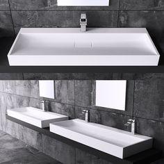 DESIGN GUSSMARMOR WASCHBECKEN STAND WASCHTISCH WASCHPLATZ COLOSSUM 19 in Heimwerker, Bad & Küche, Badkeramik | eBay