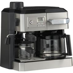 DeLonghi® Combi 10 Cup Coffee Maker-4 Cup Espresso Maker in Coffee Makers | Crate and Barrel