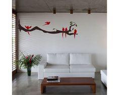 Birds time, αυτοκόλλητο τοίχου Decals, Wall Art, Php, Home Decor, Homemade Home Decor, Tags, Decal, Interior Design, Home Interiors