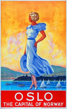 Oslo Norway Norwegian Europe European Vintage Travel Advertisement Art Poster in Posters | eBay