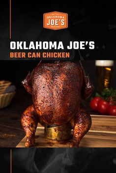 Create incredibly tender and juicy chicken with this recipe for smoked beer can chicken. A sweet and spicy rub coats the bird, then hickory smoke combines with your lager of choice to create smoky moisture that keeps the chicken tender. After about an hou Smoked Beer Can Chicken, Beer Butt Chicken, Smoked Chicken Recipes, Canned Chicken, Bbq Chicken Rub, Traeger Recipes, Grilling Recipes, Grilling Ideas, Pellet Grill Recipes