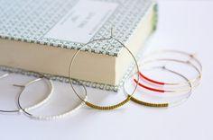 Aros sencillos, fáciles de hacer pero muy elegantes y sofisticados para hacer en pocos minutos...