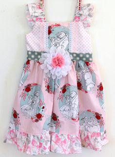 Beauty and the Beast Party Dress Belle dress by LemonDoozyLane