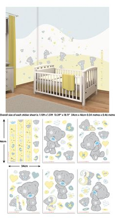 Tiny Tatty Teddy Bear Wall Decal Kit - Wall Sticker Outlet