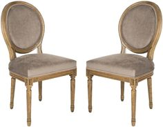 Paris Side Chair (Set of 2) – Mushroom Taupe - Safavieh - $379.35 - domino.com