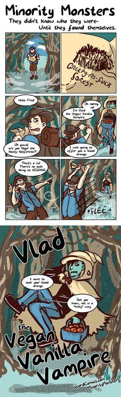 Minority Monsters- Vlad the Vegan Vanilla Vampire By Tab Kimpton