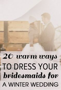 20 of the best winter bridesmaids styles for your leading ladies - Wedding Party...some of these ideas are cute