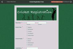 Online Form, Online Web, Form Maker, Form Builder, Registration Form, Check It Out, Cricket, Don't Forget, Names