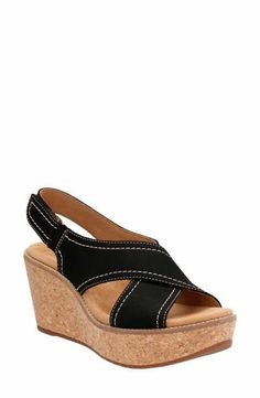 bb461a038e7679 Clarks® Aisley Tulip Platform Sandal (Women) Black High Heel Sandals