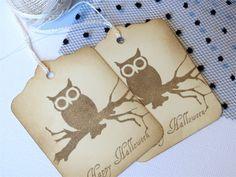 Owl Halloween party favor tags  Owl Halloween by WildSugarberries, $5.75